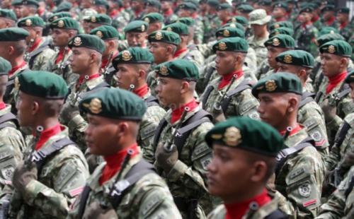 Ilustrasi apel pasukan TNI. (Foto: Dok Okezone)