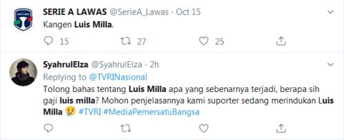 Fans ingin Luis Milla kembali latih Timnas Indonesia (Foto: Twitter)