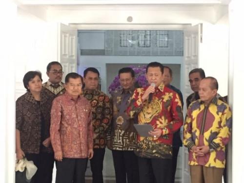 JK bertemu Pimpinan MPR. (Foto: Harits Tryan/Okezone)