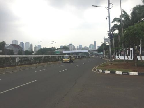 Situasi di sekitar Gedung DPR/MPR, Jakarta, jelang pelantikan presiden, Jumat (18/10/2019). (Foto : Okezone.com/Harits Tryan Akhmad)