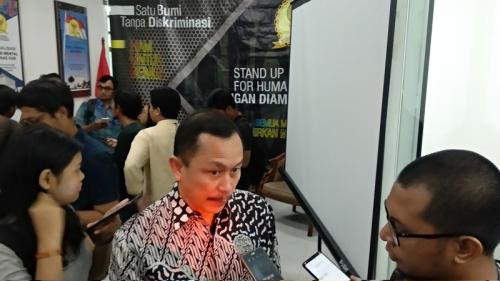 Ketua Komnas HAM, Ahmad Taufan Damanik. (Foto : Okezone.com/Fadel Prayoga)