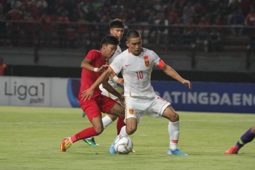 Suasana laga Timnas Indonesia U-19 vs Chian