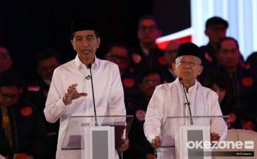 Jokowi-Maruf (Foto : Okezone)