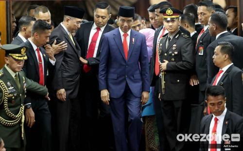 Pelantikan Jokowi-Ma'ruf Amin. (Foto: Arif Julianto/Okezone)