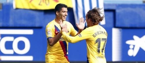 Luis Suarez dan Antoine Griezmann