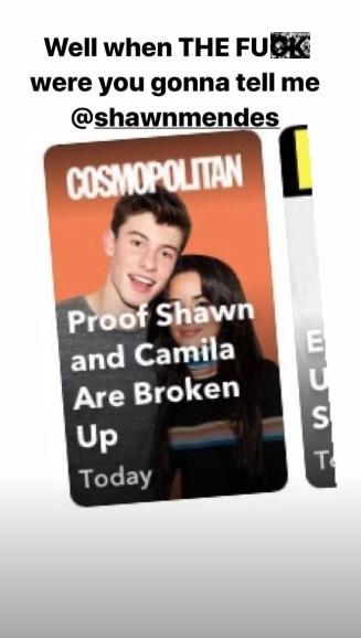 Camila Cabello jawab isu putus dari Shawn Mendes. (Foto: Instagram/@camila_cabello)