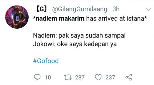 Nadiem dipanggil