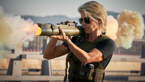 Gara-gara Terminator: Dark Fate, Linda Hamilton berkomunikasi dengan mantan suaminya, James Cameron. (Foto: Paramount Pictures)