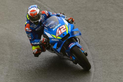 Alex Rins saat tampil di sebuah balapan MotoGP 2019