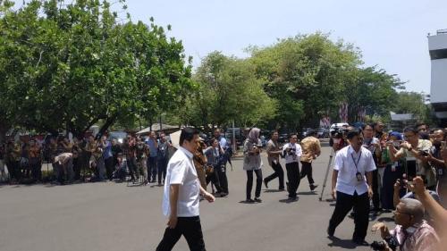 Erick Thohir dipanggil Jokowi ke Istana, Senin (21/10/2019). (Foto : Okezone.com/Fakhrizal Fakhri)