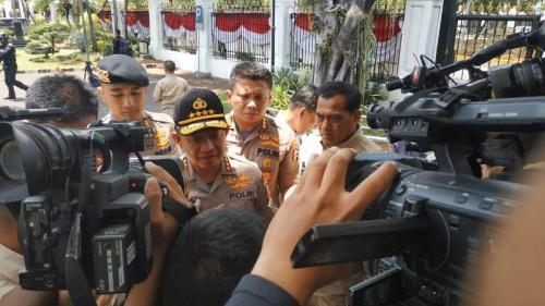 Kapolri Jenderal Tito Karnavian saat di Istana Kepresidenan, Senin (21/10/2019). (Foto : Okezone.com/Fakhrizal Fakhri)