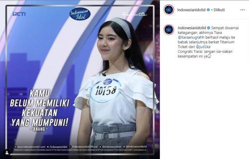 Tiara Anugerah, Audisi Indonesian Idol 2019