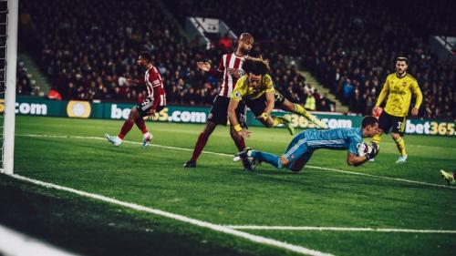 Suasana laga Sheffield United vs Arsenal