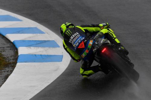 Valentino Rossi tampil pada sebuah balapan di MotoGP 2019