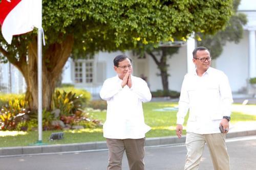 Prabowo Subianto dan Edhy Prabowo. (Foto: Twitter @Gerindra)