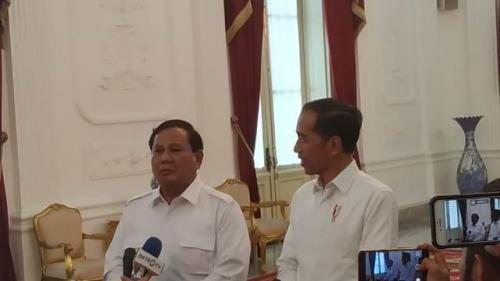 Prabowo Subianto dan Presiden Jokowi. (Foto: Dok Okezone/Fakhrizal Fakhri)