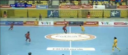 Timnas Futsal Indonesia vs Australia (Foto: Metube)