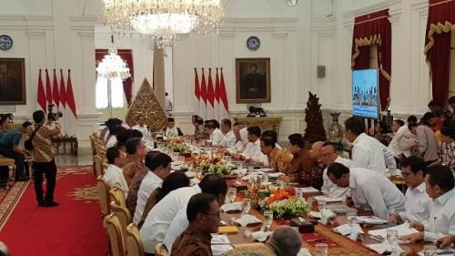 Sidang perdana Kabinet Indonesia Maju. (Foto: Fakhrizal Fakhri/Okezone)