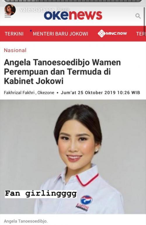 Angela masuk oke
