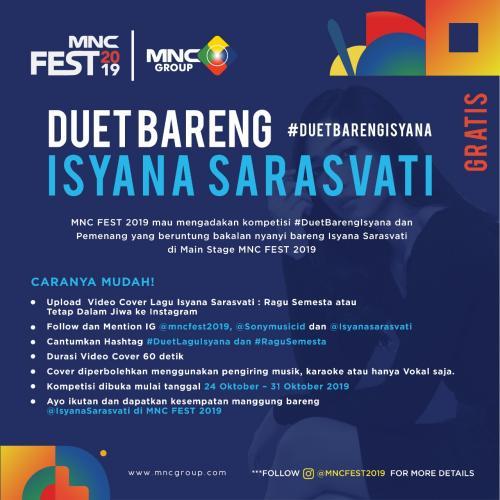 MNC Fest Siap Digelar 3 November 2019