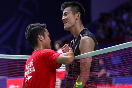 Anthony Sinisuka Ginting dan Chen Long