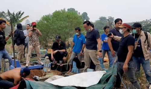 Mayat PNS di Palembang Dicor (foto: Ist)