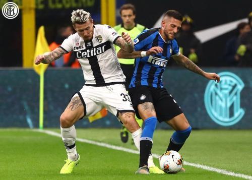 Christian Biraghi vs Parma (Foto: Twitter/@Inter_en)