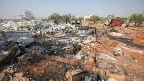 Lokasi peneyerbuan Pemimpin ISIS Abu Bakr al Baghdadi di Idlib, Suriah. (Foto/AFP)