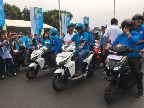 Sepeda motor dijadikan kendaraan mobilitas perkotaan