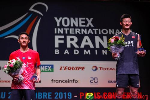 Jonatan vs Chen Long di Prancis Open 2019