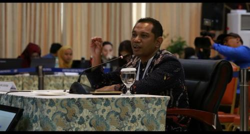 Nurul Ghufron saat mengikuti seleksi capim KPK (Foto : Sekretariat Negara RI)