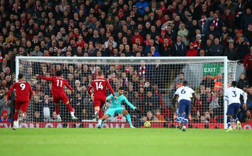 Suasana laga Liverpool vs Tottenham