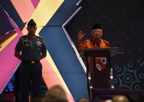 Wapres Maruf Amin di Musyawarah Besar X Pemuda Pancasila (Foto: Ist/KIP-Setwapres)