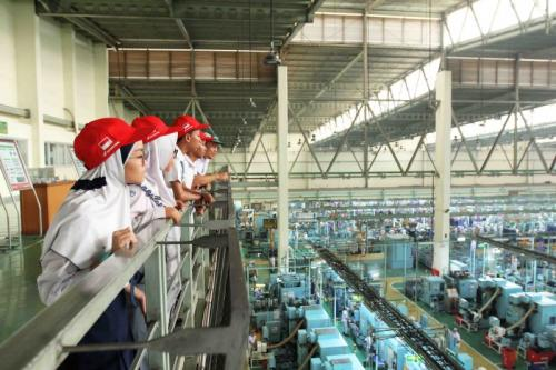 Kunjungan ke pabrik Honda