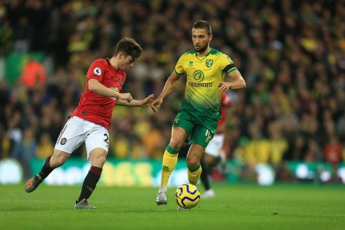 Suasana laga Norwich vs Man United