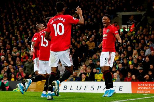 Suasana laga Norwich vs Man United