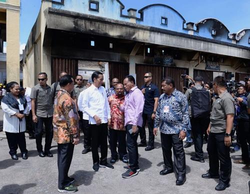 Presiden Jokowi menyambangi Papua (Foto : Biro Pers Setpres)