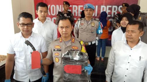 Gelar Perkara Kasus Pembunuhan yang Mayatnya Dibuang di Tol Bocimi, Bogor (foto: Okezone/Putra RA)