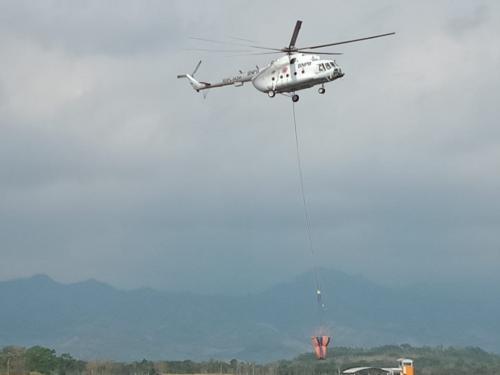 Helikopter BNPB Foto: BPBD Banyuwangi