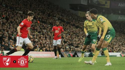 Laga Norwich City vs Manchester United