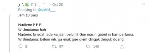 Viral netizen halu soal Wishnu dan Nadiem (Twitter)