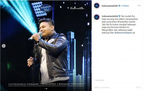 Dian Amanda, peserta Indonesian Idol