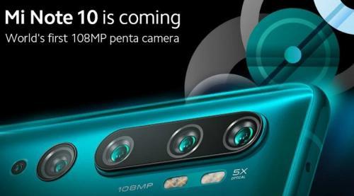 Xiaomi Mi Note 10 kabarnya akan tampil dengan lima kamera atau penta camera.