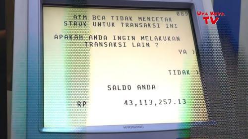 Saldo ATM Raffi Ahmad ternyata tak seperti dugaan Uya Kuya. (Foto: YouTube/Uya Kuya TV)