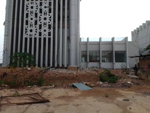 Proyek Gedung Menara Pandang Tangsel Mangkrak (foto: Okezone/Hambali)