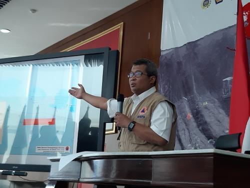 Kepala Pusat Data Informasi dan Humas BNPB Agus Wibowo (Foto : Okezone.com/Fahreza Rizky)