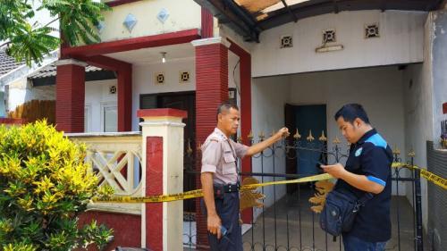 Rumah Kontrakan Ayah Tiri yang Diduga Bunuh Balita di Malang, Jatim (foto: Avirista M/Okezone)