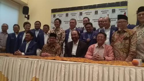 Pertemuan petinggi Nasdem dengan PKS. (Foto : Okezone.com/Sarah Hutagaol)