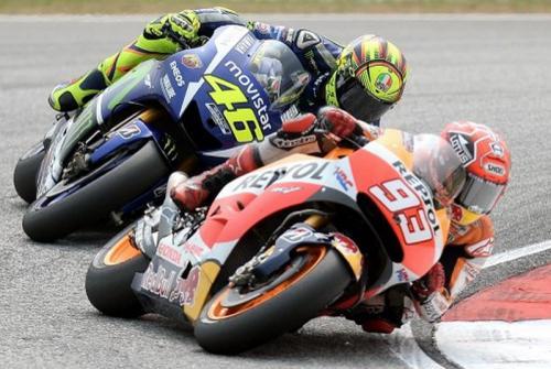 Marc Marquez vs Vale Rossi