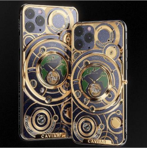 Caviar memperkenalkan iPhone 11 Pro berlapis emas kepada publik.